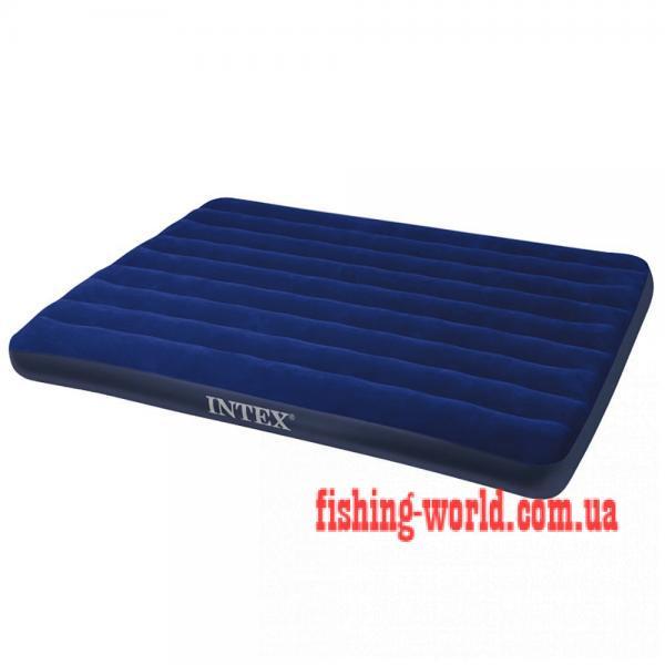 Фото Матрасы, надувные кровати 1,5 Полуторный надувной матрас Кемпинг Double 185х138х22 см.