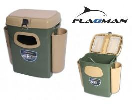 Ящик для зимней рыбалки Flagman с боковыми карманами