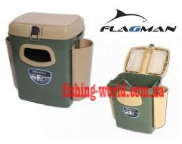 Фото Зимняя рыбалка, Зимние ящики, сани Ящик для зимней рыбалки Flagman с боковыми карманами