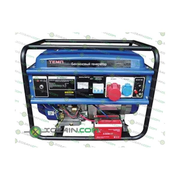 Бензиновый генератор Темп БГ-6500/380