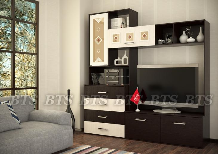 Фото Стенки и мебель для гостиной  Модульная стенка Белла (БТС)