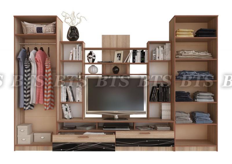 Фото Стенки и мебель для гостиной  Гостиная Багира (BTS МЕБЕЛЬ)