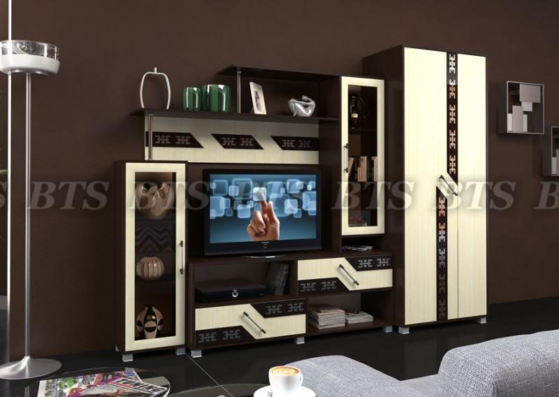 Фото Стенки и мебель для гостиной  Гостиная Зодиак (BTS МЕБЕЛЬ)