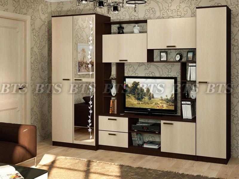 Фото Стенки и мебель для гостиной  Гостиная Флора( BTS МЕБЕЛЬ)