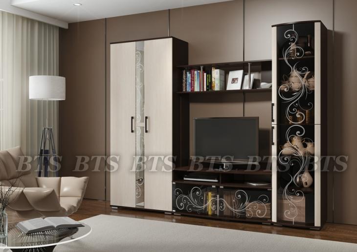 Фото Стенки и мебель для гостиной  Гостиная Флоренция Модульная (БТС)