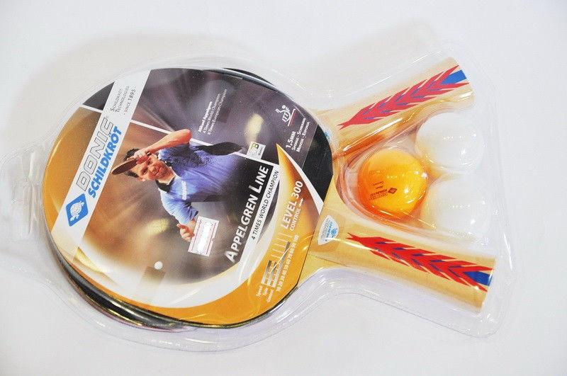 Набор для наст. тенниса DONIC (2рак+3шар)  APPELGREN 300 (древес,резина,пластик)