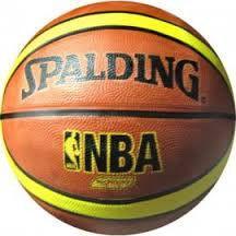 Мяч баскетбольный резиновый №7 SPALD(резина, бутил, оранжевый)