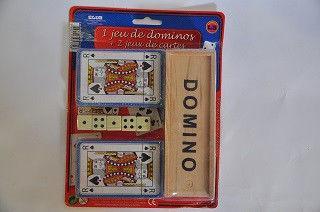 Набор игральный  (домино, 2 колоды карт, 5 кубиков)