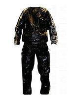 Костюм-сауна (весогонка) (0,14мм PVC, р-р L, черный) - Одежда для похудения на рынке Барабашова