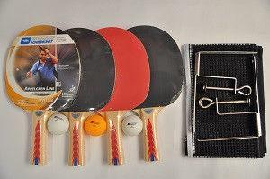 Набор для наст. тенниса DONIC (4рак+3шар+сетка+PVC чехол)  APPELGREN 300 (древ,рез,плас,NY)