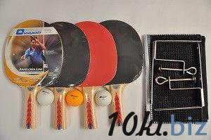 Набор для наст. тенниса DONIC (4рак+3шар+сетка+PVC чехол)  APPELGREN 300 (древ,рез,плас,NY) купить в Харькове - Теннисные ракетки, наборы для тенниса
