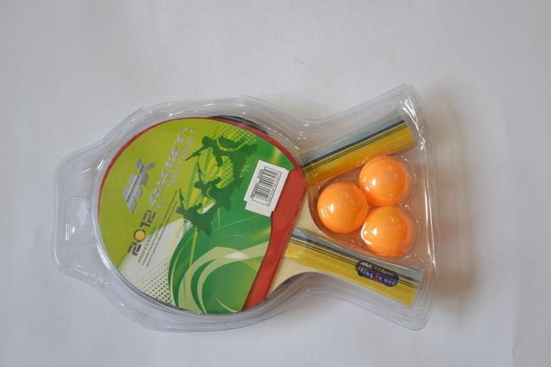 Набор для наст. тенниса MK (2рак+3шар) (древесина, резина, пластик)