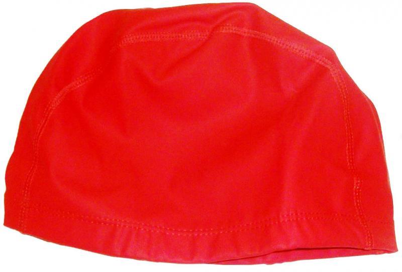 Шапочка для плавания тканевая. Безразмерная, взрослая. Сочетание полиамида и эластомера делает ткань эластичн