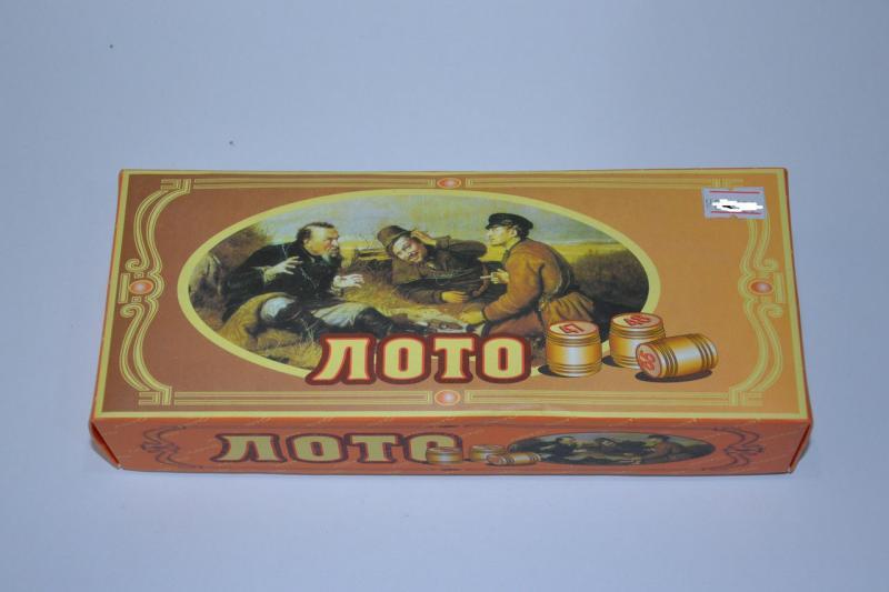 Лото в цвет. карт. коробке (настольная игра)  (боч-дер,карт-картон,фиш-пласт, р-р 23*9,5*4,5см)