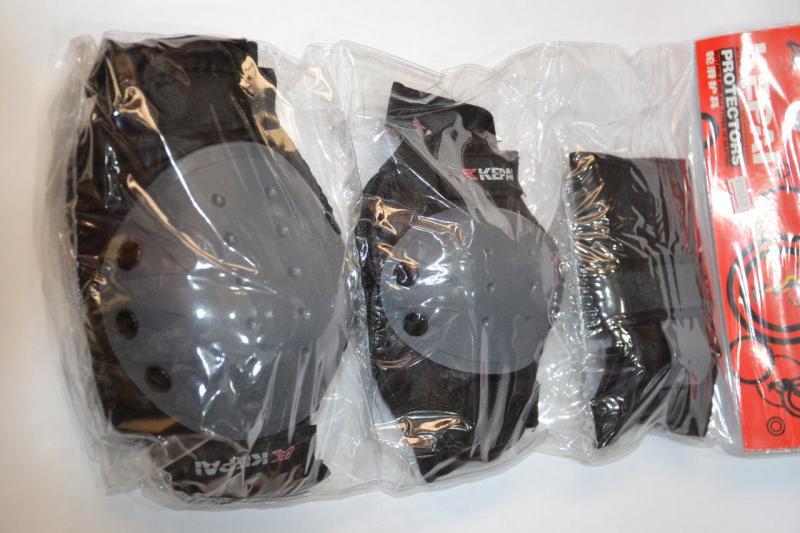 _Защита спортивная наколенники, налокот., перчатки KEPAI  (р-р L, черный)