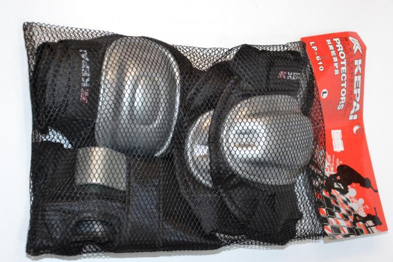 _Защита спортивная наколенники, налокот., перчатки KEPAI  (р-р M, синий, желтый)