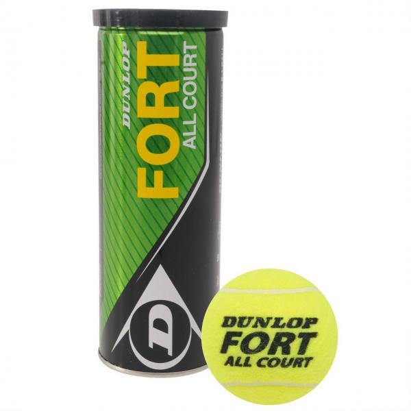 Мяч для большого тенниса DUNLOP (3шт)  FORT ALL COURT 3TIN (в вакуумной упаковке)