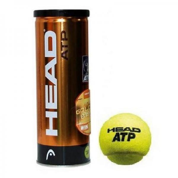 Мяч для большого тенниса HEAD (3шт) ATP METAL CAN (в вакуумной упаковке)