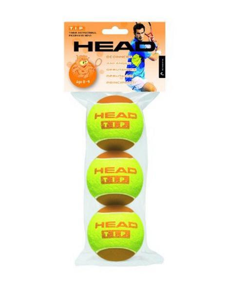 Мяч для большого тенниса HEAD (3шт)  (для детей 8-9 лет, в пакете)