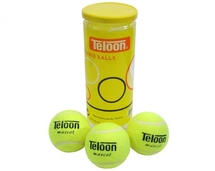Мяч для большого тенниса TELOON (3шт)  (в вакуумной упаковке)