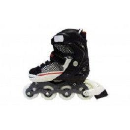 _Роликовые коньки раздвижные RADIUS(30-33) (PL, PVC, колесо PU, алюм. рама, белые)
