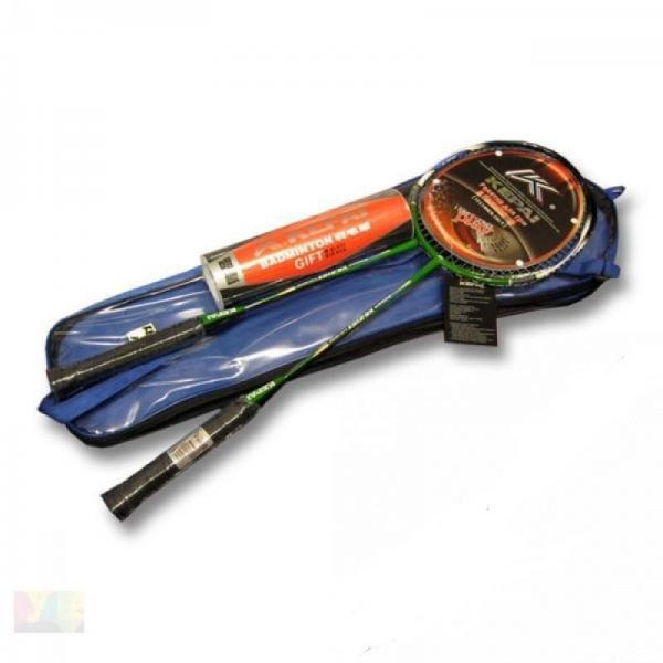 Ракетки для бадминтона (2рак+6 воланчиков+PVC чехол) KEPAI  (сталь)