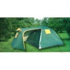 Палатка 4-х местная(200+240)*240*170см (полиэст 190T, дно PU 1000мм, с тент, швы прокл)