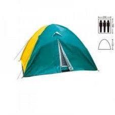 Палатка 3-х местная с тентом (р-р 2,0*2,0*1,35м, нейлон)