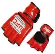 Перчатки для смешанных единоборств MMA Кожа MATSA  (р-р L M XL, красный)