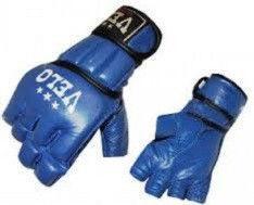 """Перчатки для смешанных единоборств MMA Кожа """"VELO""""(р-рS M L XL, синий)"""