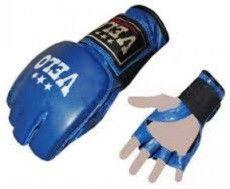 """Перчатки для смешанных единоборств MMA Кожа """"VELO""""(р-р XL,L, синий)"""