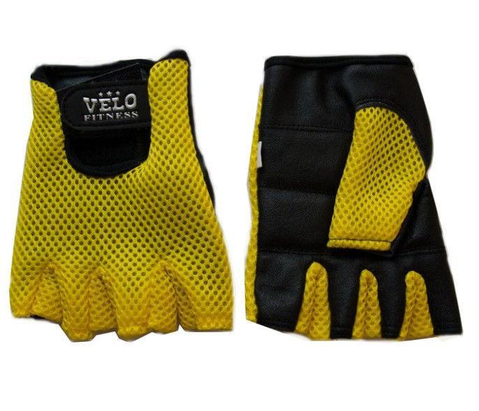 Перчатки для фитнеca VELO (PL, PVC, эластан, открытые пальцы, р-р S,M,L,XL)