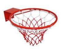 Кольцо баскетбольное 1810 (d кольца-45см, d трубы-8мм, в компл.кольцо-металл, сетка-нейлон, болты)