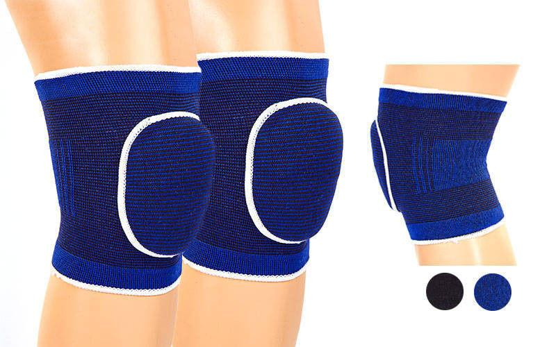 Наколенник волейбольный (2шт) DIKES 0735 детский (PL, эластан, безразмерный, синий,черный)