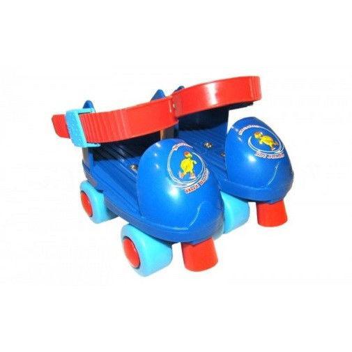 Роликовые коньки раздвижные (квады) (р-р 25-30) (пластик, металл, сине-красные)