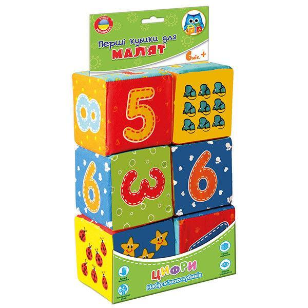 Мягкие кубики «Цифры» укр.