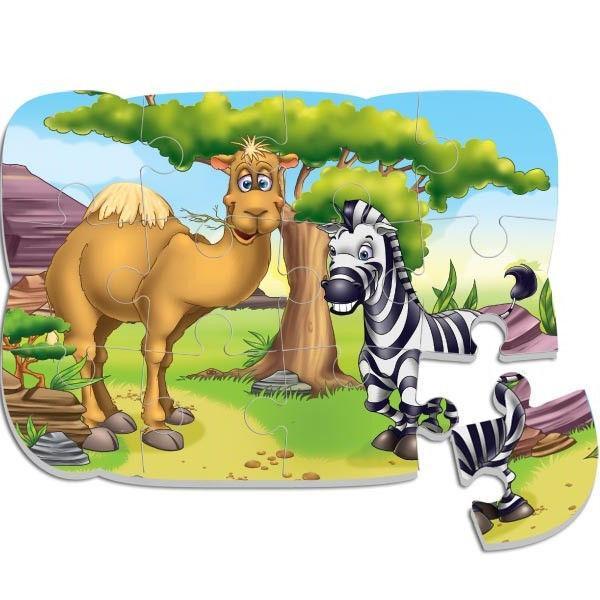 Пазл на магните «Верблюд и зебра»