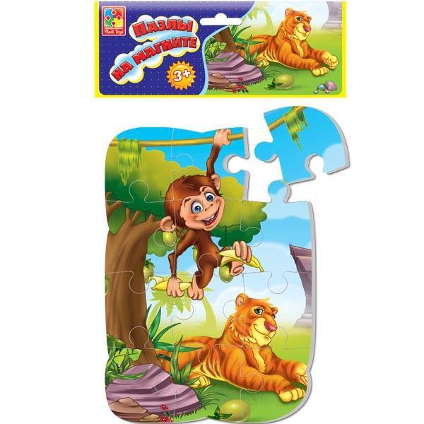 Пазл на магните «Тигр и обезьяна»