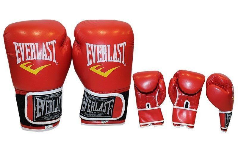 """Перчатки боксерские """"EVERLAST"""" (р-р 10 oz, красный, синий, черный)"""