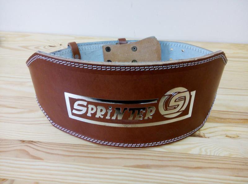 """Пояс для тяжелой атлетике """"SPRINTER"""". Широкий, кожаный, коричневый, 1-й сорт. Размер:L"""