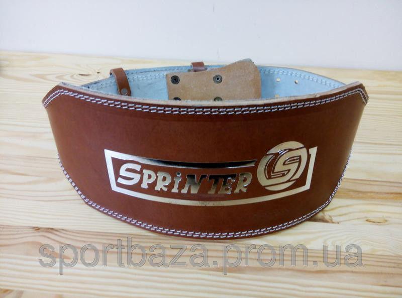 """Пояс для тяжелой атлетики """"SPRINTER"""". Широкий, кожаный, коричневый, 1-й сорт. Размер: xxl"""
