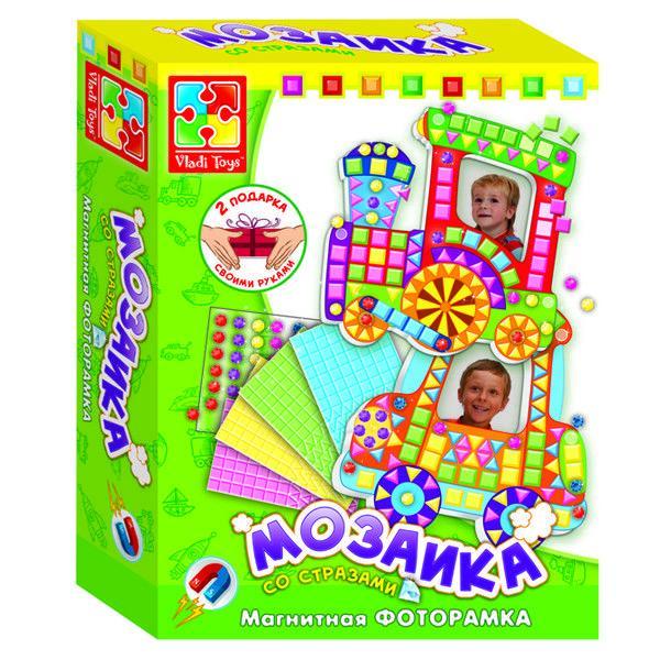 Мозаика со стразами (магнитные фоторамки) «Паровозик»