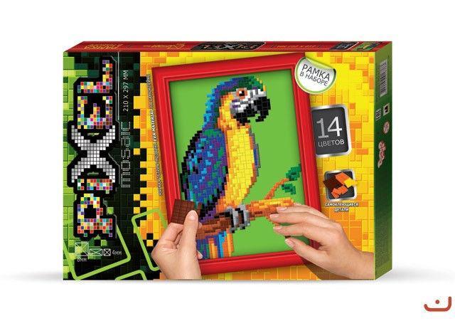"""Набор для творчества """"Пиксельная мозаика Попугай"""""""