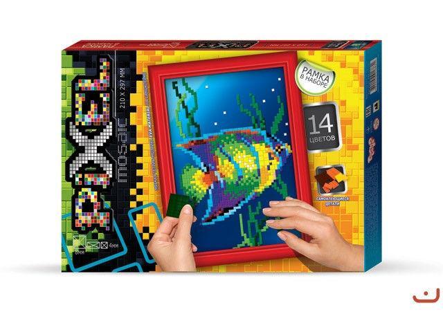 """Набор для творчества """"Пиксельная мозаика Рыбка"""""""
