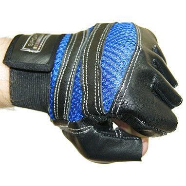 Перчатки спортивные (открытые пальцы, р-р L)