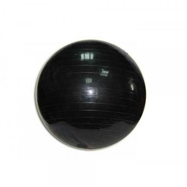 Мяч для фитнеса GYM BALL, матовый. d - 65 см ЧЕРНЫЙ