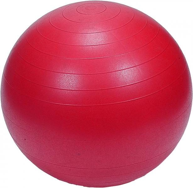 """Мяч для фитнеса """"GYM BALL"""" матовый. d- 75 см (КРАСНЫЙ)"""