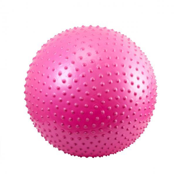 Мяч для фитнеса, с массажными шипами. d- 65 см (РОЗОВЫЙ)