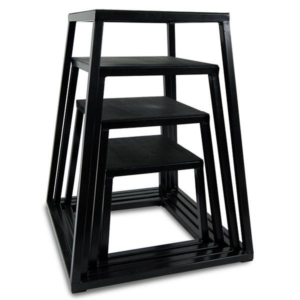 Бокс плиометрический (5шт) QT1005 PLYOMETRIC BOXES (металл,резина, h-30,5; 45,7; 61; 76,2; 91,5 см)