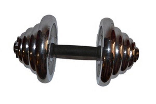 Разборная гантеля хромированная YORK 20 кг. 1 шт